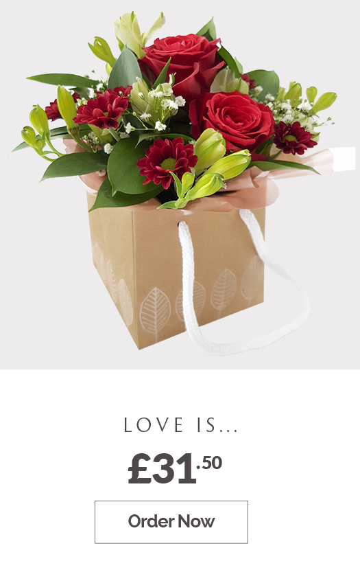 Order Love is... Flower arrangement £31.50