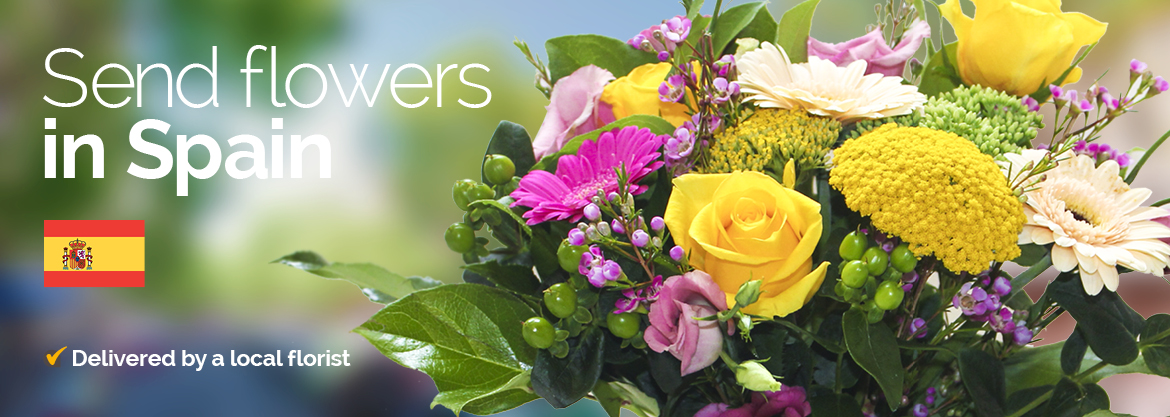 flower delivery Spain banner