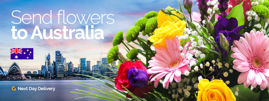 Send flowers to Australia banner