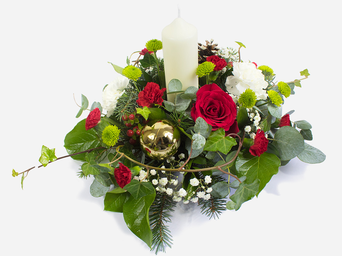 Order Peace and Joy candle arrangement