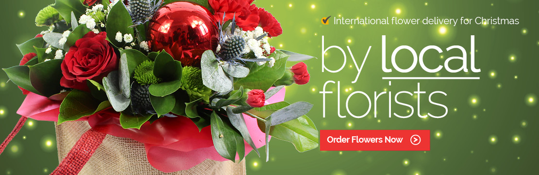 Christmas Flowers by Local florists