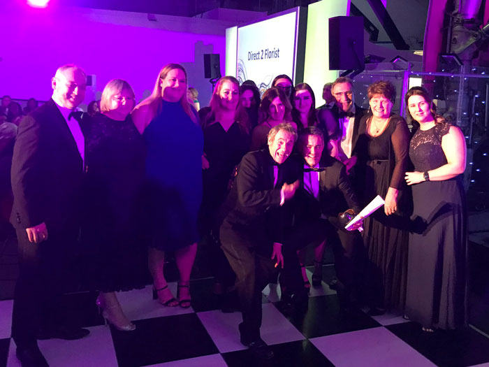 The Direct2Florist Team collecting the Award