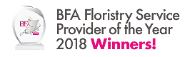 Floristry Service Provider of the Year 2018! Direct2Florist!