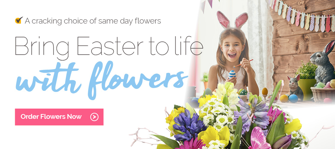 Easter flowers delivered by local florist's in the UK
