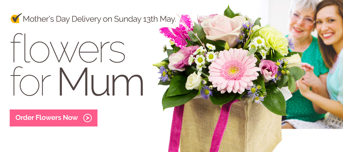 Mother's Day delivery on Sunday 13th May. Order Now.