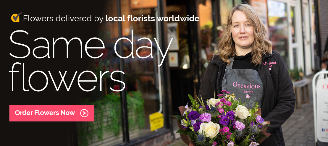 Same day flowers delivered by local florists in the UK