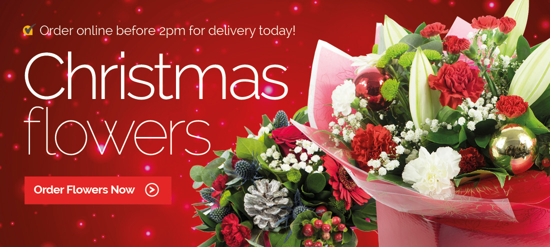 Christmas Flowers Delivered by a Local Florist