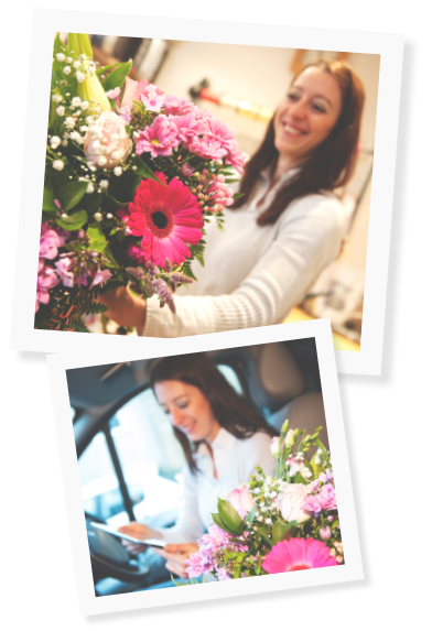 Flower delivery by florists in Belgium