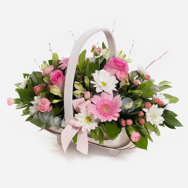 Order Baby Girl Pink Basket  flowers