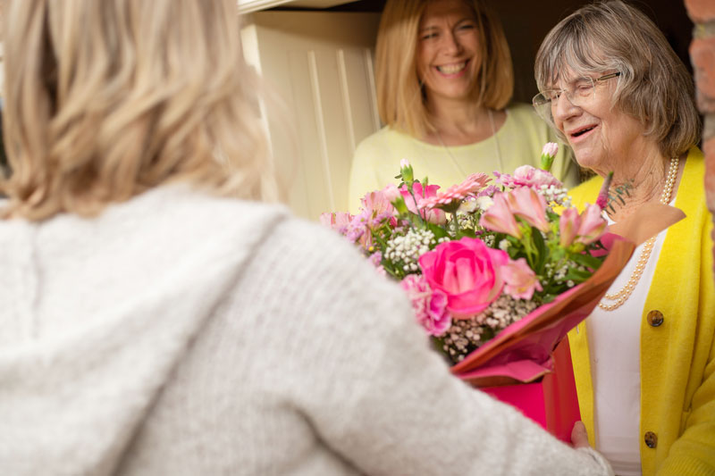 Flowers delivered by a local florist